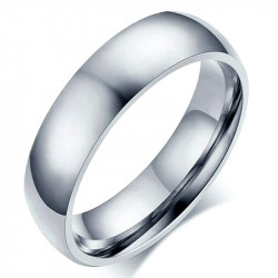 AL0038 BOBIJOO Jewelry Alliance Ring Ring Stainless Steel Silver 6mm