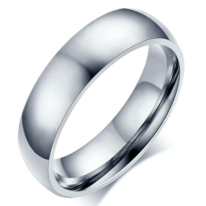 AL0038 BOBIJOO Jewelry Alliance Ring Ring Stainless Steel Silver 6mm