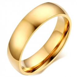 AL0042 BOBIJOO Jewelry Alianza Anillo de 6mm de Oro chapado en Acero Inoxidable con acabado