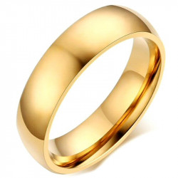 Alliance Ring 6mm Gold-plated finish Stainless Steel