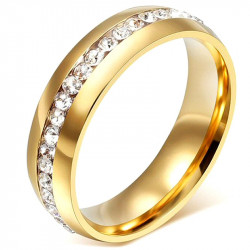 AL0043 BOBIJOO Jewelry Alliance 6mm Ring Gold Zirconium Stainless Steel