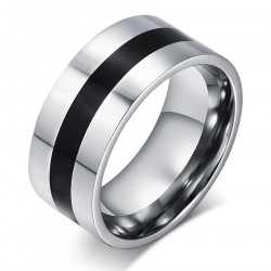 Ring Stainless Steel Black