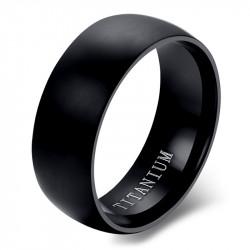 BA0054 BOBIJOO Jewelry Bague Alliance Titanium Noir Mate Poli