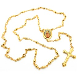 CP0025 BOBIJOO Jewelry Rosary, Gold Yellow Mary
