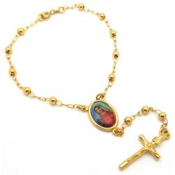 Chapelet Bracelet Doré à l'Or Fin Marie bobijoo