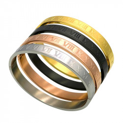 BR0094 BOBIJOO Jewelry Bracciale In Acciaio Inossidabile Delle Donne In Numeri Romani