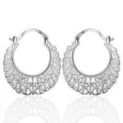 Earrings Vintage Silver Plated