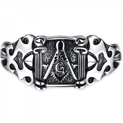 Gourmette Bracelet Masonic Franc Maçon