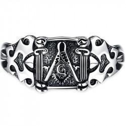 GO0003 BOBIJOO Jewelry Curb Catena Bracciale Massonica Frank Mason