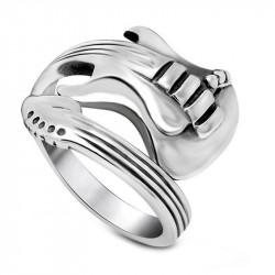 BA0070 BOBIJOO Jewelry Ring Guitar Stainless Steel