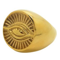 BA0077 BOBIJOO Jewelry Anillo Sortija De Sello De Los Illuminati De Los Ojos De Oro