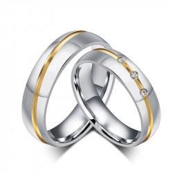 AL0002 BOBIJOO Jewelry Alianza de Acero tono de Plata Rhinestone de Alambre Boré en Oro Mezclado