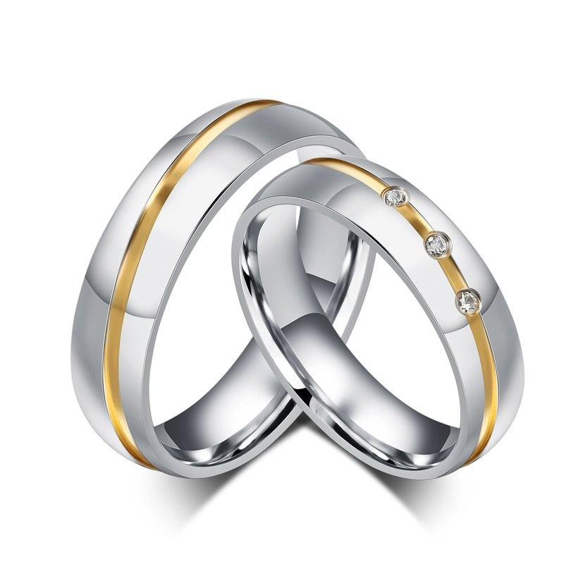 AL0002 BOBIJOO Jewelry Alleanza Acciaio Silver-tone Strass Filo Boré in Oro Misto