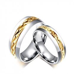 AL0003 BOBIJOO Jewelry Alliance Acier Argenté Doré à l'Or Fin Facettes