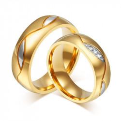 AL0004 BOBIJOO Jewelry Alianza Anillo, De Oro Hombre Mujer