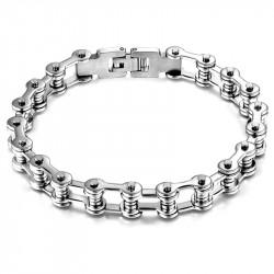 BR0102 BOBIJOO Jewelry Bracelet Biker Chaine de Moto Acier Inoxydable