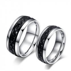 AL0015 BOBIJOO Jewelry Alliance Originale Acier Inoxydable Décor Noir Titane