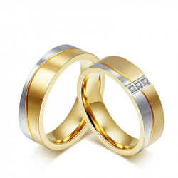 Alliance Ring in Gold-plated finish Stainless Steel