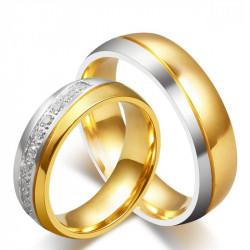 Alliance-Ring, Ring, Vergoldet, feines Gold-Silber Strass