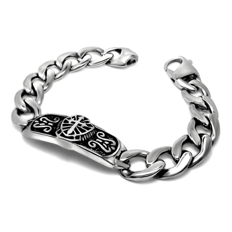 GO0004 BOBIJOO Jewelry Panzer Armband Kreuz der Templer