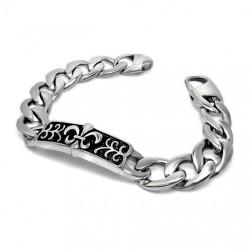 GO0005 BOBIJOO Jewelry Curb chain Bracelet Fleur-de-Lys