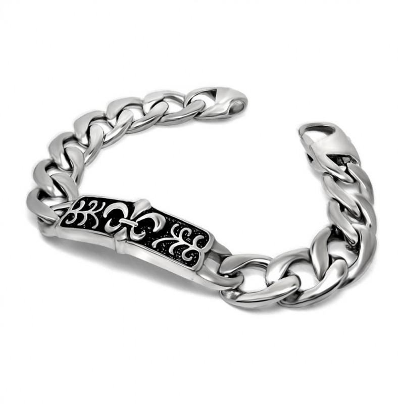 GO0005 BOBIJOO Jewelry Gourmette Bracelet Fleur de Lys