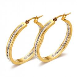 BOF0055 BOBIJOO JEWELRY Earrings hoop earrings Zirconia Gold-plated finish