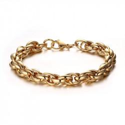 BR0111 BOBIJOO Jewelry Pulsera De Malla Mixta Entretejido De Acero De Oro