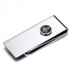 PB0001 BOBIJOO Jewelry Money clip Stainless Steel freemasonry