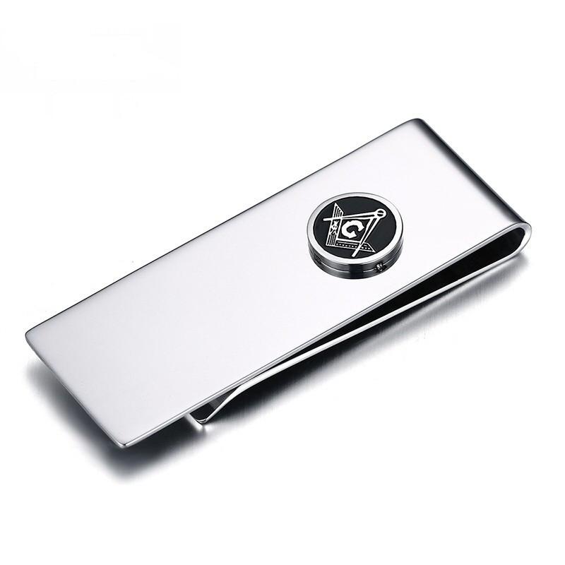 PB0001 BOBIJOO Jewelry Money clip Stainless Steel freemasonry