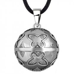 GR0019 BOBIJOO Jewelry Colgante Del Collar De La Bola Musical De Embarazo De La Mariposa De Plata