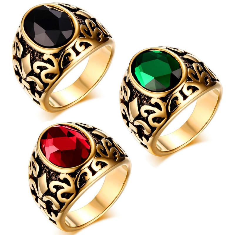 BA0123 BOBIJOO Jewelry Chevalière Doré Or Fin Fleur de Lys Au Choix