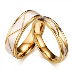 AL0051 BOBIJOO Jewelry Alianza De Oro De Oro Fino, Pulido Tono Plateado De Tendencia
