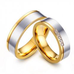 AL0052 BOBIJOO Jewelry Alianza Anillo, De Oro Plata Diamantes De Imitación