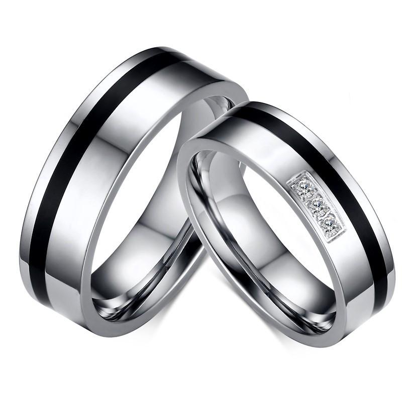 AL0053 BOBIJOO Jewelry Alliance Argenté Noir Strass Sobre Classique