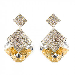 BOF0061 BOBIJOO JEWELRY Boucles d'Oreilles Pendantes Strass Cristal Soirée