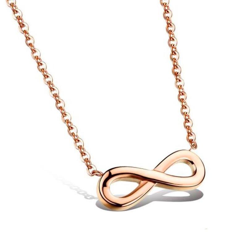 PEF0023 BOBIJOO Jewelry Collier Pendentif Infini Collier Doré Or Fin Rose