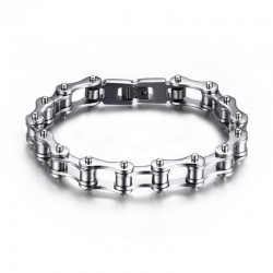 BR0131 BOBIJOO Jewelry Bracciale Catena Bici In Acciaio