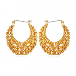 BOF0010 BOBIJOO JEWELRY Vintage earrings Basket Gold-plated finish