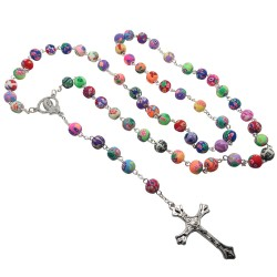 CP0030 BOBIJOO Jewelry Rosary Beads in Polymer clay Clay Fimo
