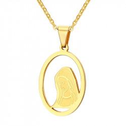 PEF0029 BOBIJOO Jewelry Colgante de la Cara de la Mujer, la Virgen María, de Oro
