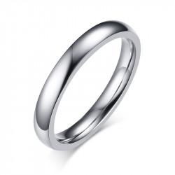 AL0059 BOBIJOO Jewelry Anillo Alianza Simple Conjunto de Plata de Acero Inoxidable de 3 mm de