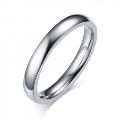 Bague Alliance Simple Mixte Acier Inoxydable Argenté 3mm bobijoo