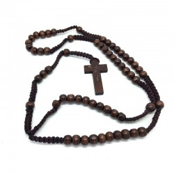 Wooden rosary dark Brown