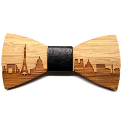 NP0001 BOBIJOO Jewelry Bamboo Wood Bow Tie Paris France