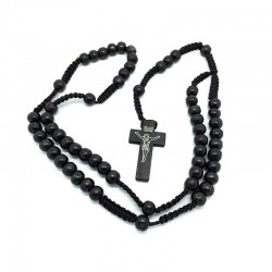 CP0018 BOBIJOO Jewelry Rosary Black wood