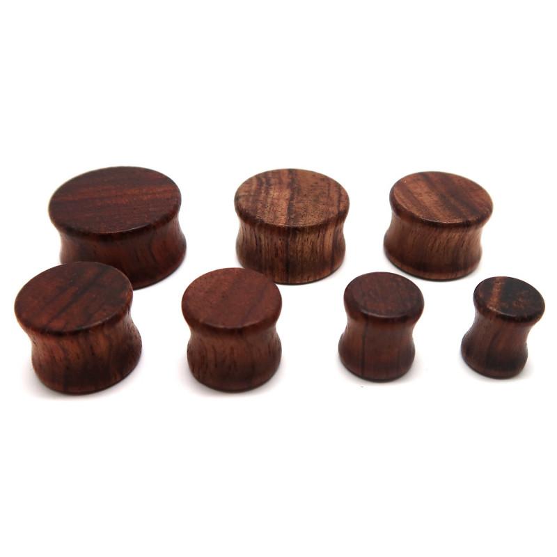 PIP0019 BOBIJOO Jewelry Piercing Plug Ecarteur Extenseur Plein Bois Marron