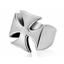 BA0144 BOBIJOO Jewelry Signet Ring Templar Cross Stainless Steel