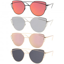 LU0014 BOBIJOO Jewelry Sunglasses-Metal Futuristic Style