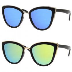LU0023 BOBIJOO Jewelry Par de Gafas de sol de los años Sesenta de Ojo de Gato Pin Up